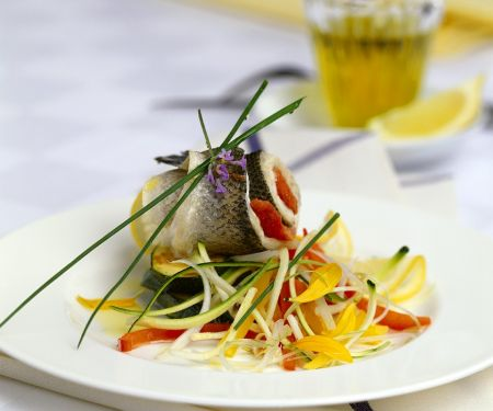 Steamed Char Rolls with Vegetables