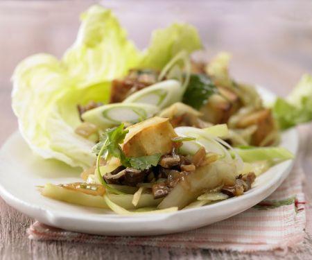 Stir-Fried Tofu and Mushrooms