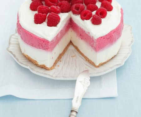 Striped Berry Cheesecake