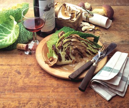 Stuffed Savoy Cabbage with Porcini Mushrooms