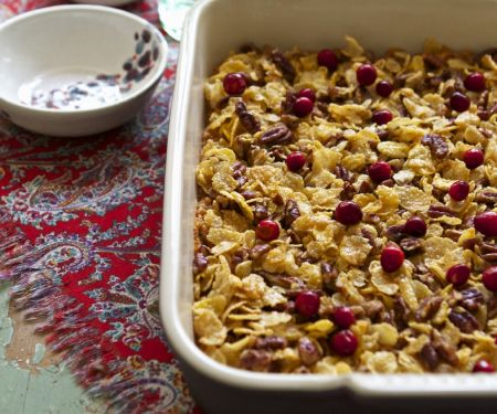 Sweet Potato Casserole with Cranberries