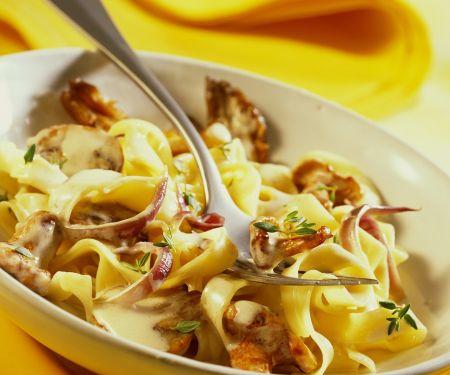 Tagliatelle with Mushroom Sauce