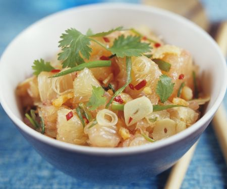 Thai-Style Pomelo Salad with Garlic and Chili