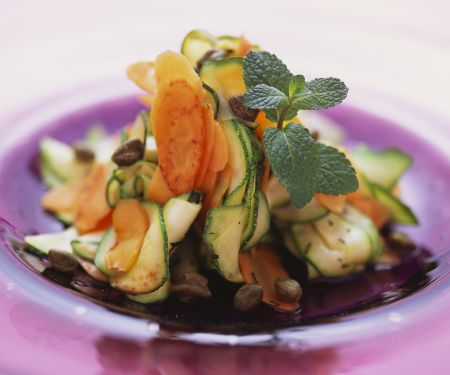 Thinly Sliced Vegetable Appetizer