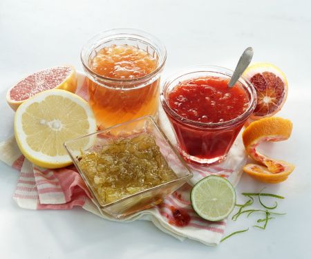 Three Citrus Marmalades