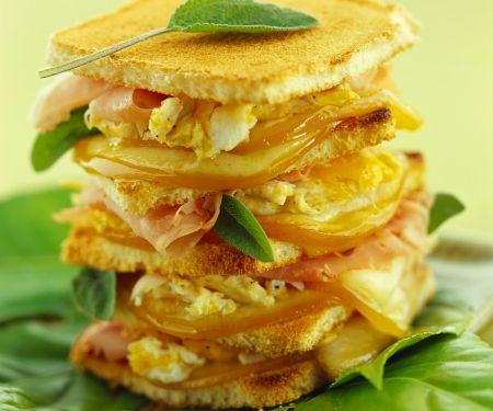 Toasted Italian Egg Sandwich