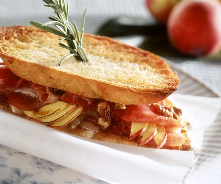 Toasted Sandwiches with Ham and Nectarine