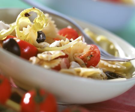 Tomato Pasta Salad with Dandelion Greens