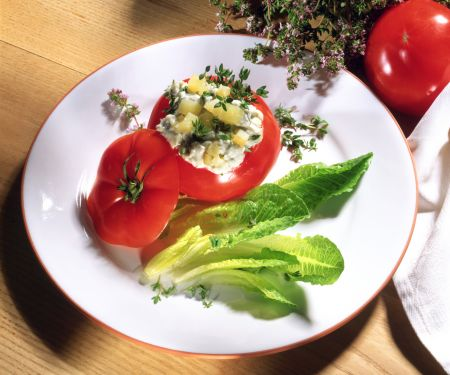 Tomatoes Stuffed with Potato Salad
