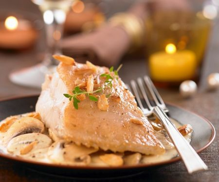 Turbot with White Wine Sauce