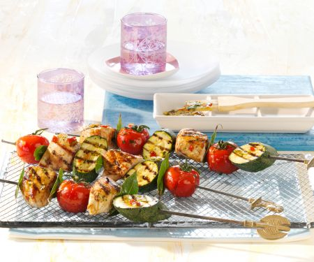 Turkey and Vegetable Kebabs