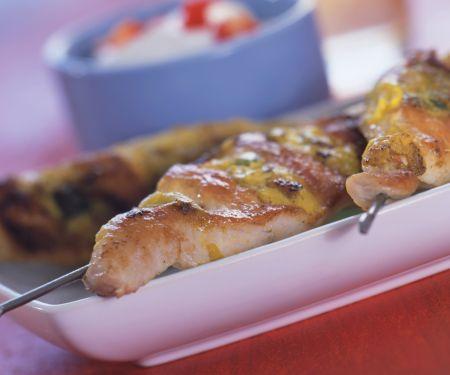 Turkey Kebabs with Mustard Dip