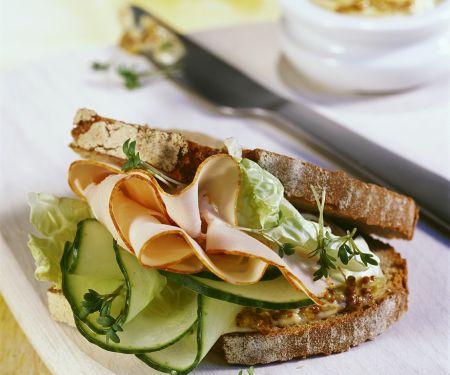Turkey Sandwiches with Cucumber