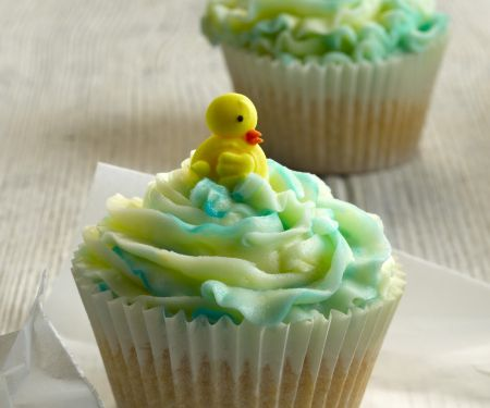 Two Colour Easter Cupcakes
