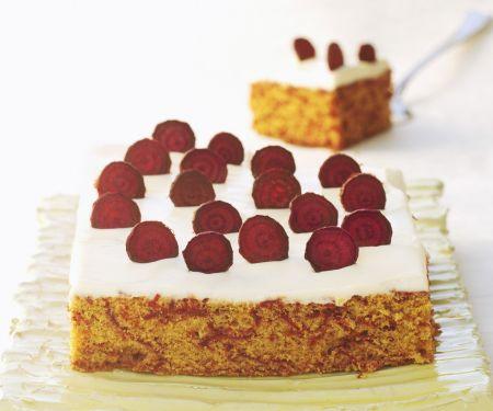 Vanilla Cream Cheese Cake with Beets