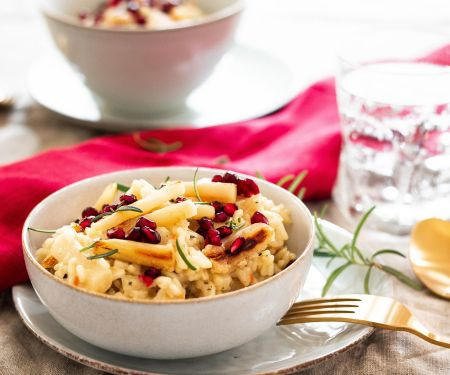 Vegan Parsnip Risotto with Pomegranate