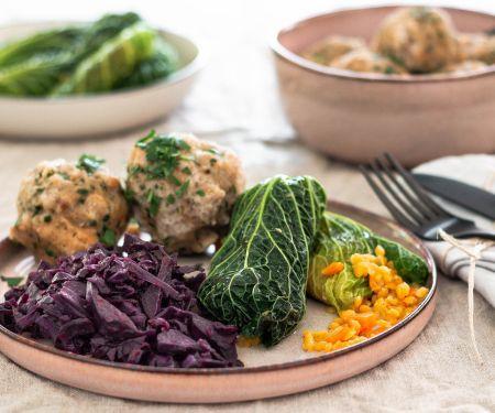 Vegan Savoy Cabbage Roulades