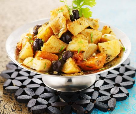 Vegetarian Tagine with Potatoes and Carrots