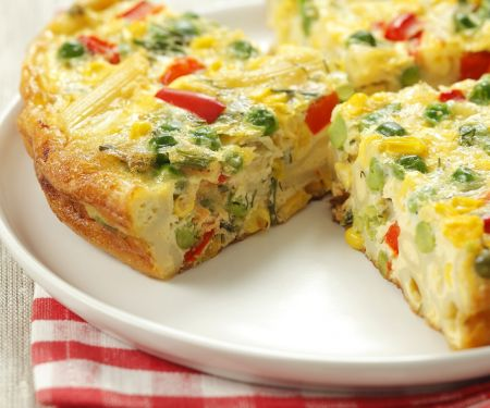 Venetian Frittata with Noodles and Vegetables