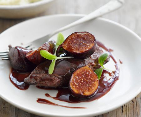 Venison Steaks with Red Wine Fig Sauce