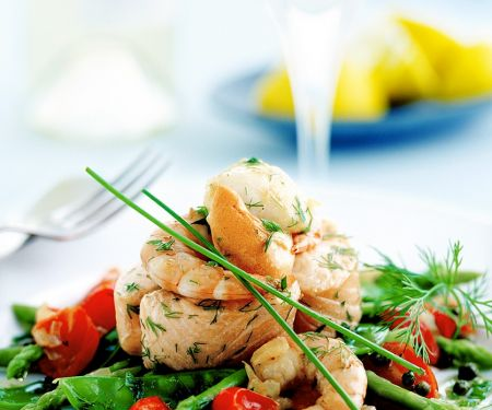 Warm Fish and Seafood Salad