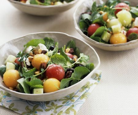 Watermelon Salad with Herbs and Mozzarella