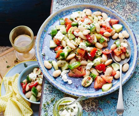 White Bean Salad with Feta Cheese