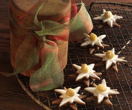 White Chocolate and Nougat Star Cookies
