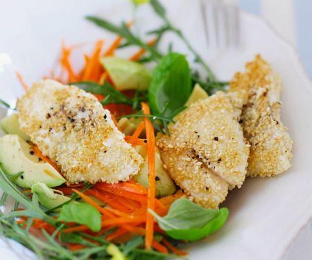 White Fish in a Sesame Crust