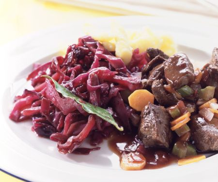 Wild Boar Stew with Red Cabbage