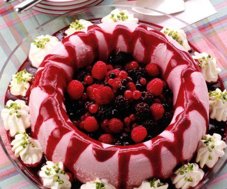 Yogurt Ice Cream with Wild Berries