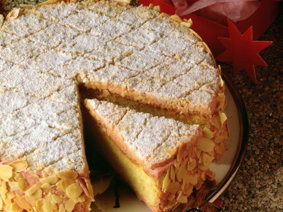 Almond Meringue Cherry Cake