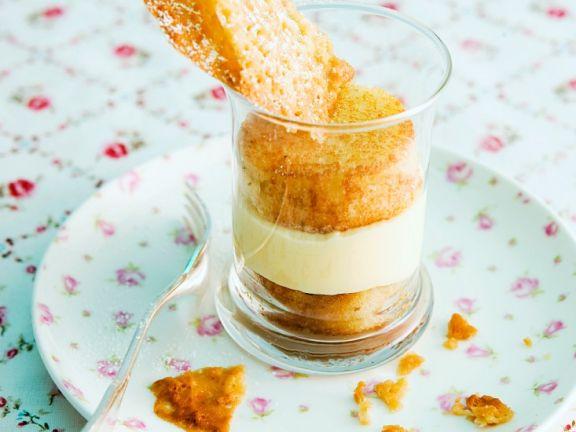 Almond Sponge with Tuile