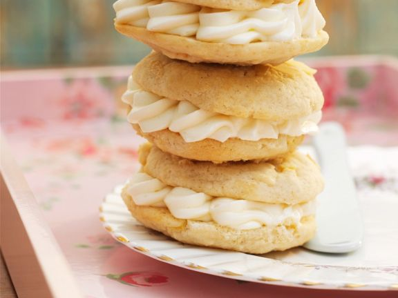 Almond Whoopie Pies with Cream Cheese Filling