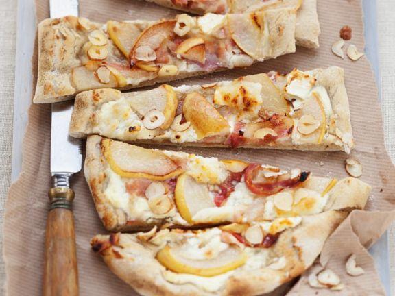 Alsatian Pear and Bacon Flatbread