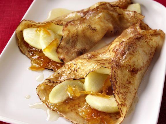 Apple and Orange Marmalade Filled Pancakes