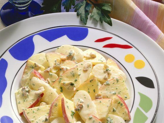 Apple and Radish Salad with Yogurt Dressing