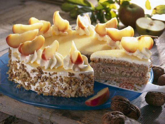 Apple and Walnut Cake