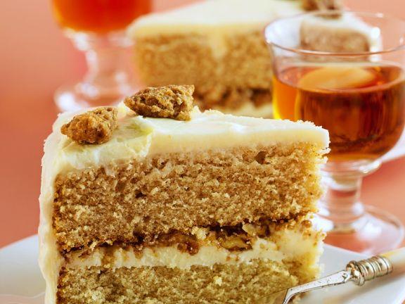 Apple Filled Hazelnut Cake