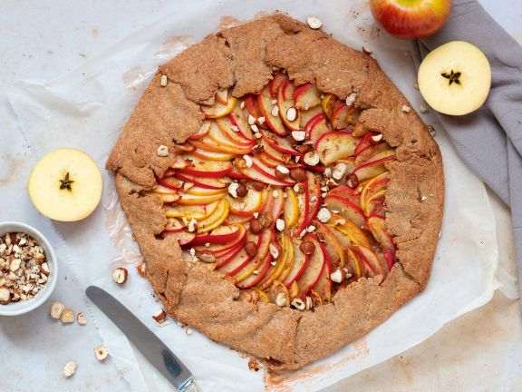 Apple Galette with Hazelnuts