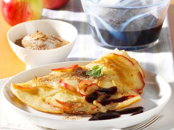 Apple Pancakes with Elderberry Sauce