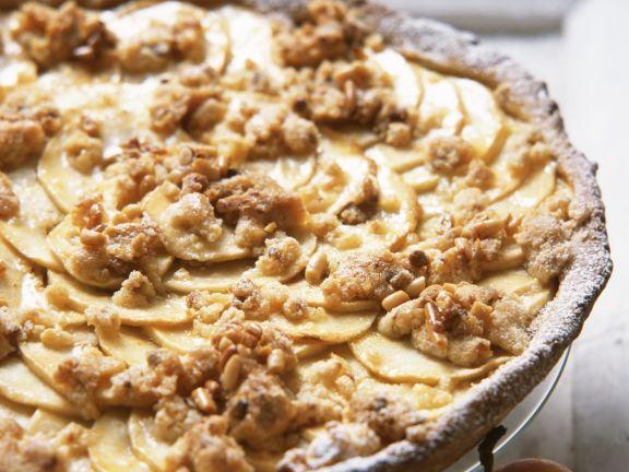 Apple Pie with Pine Nut Streusel