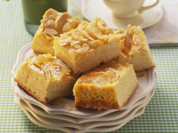 Apple Topped Quark Cake with Almonds