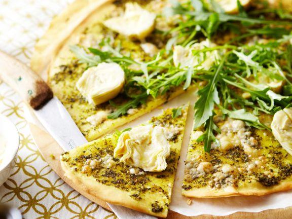Artichoke Pizza with Arugula