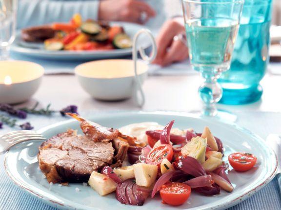Artichokes and Onion Salad
