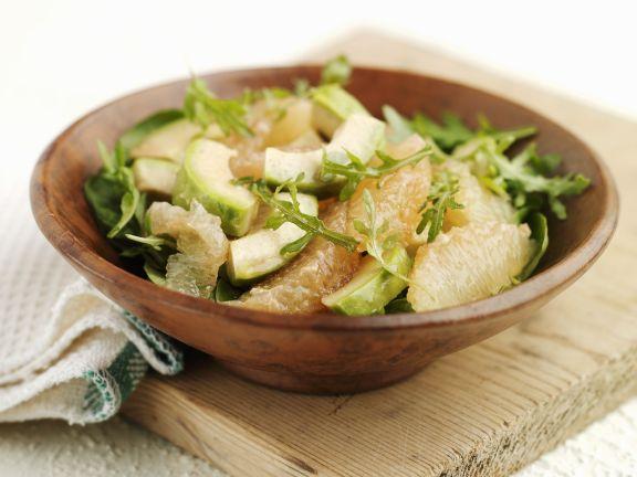 Arugula Salad with Avocado and Grapefruit