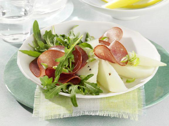 Arugula Salad with Melon