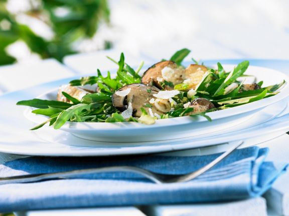 Arugula Salad with Mushrooms