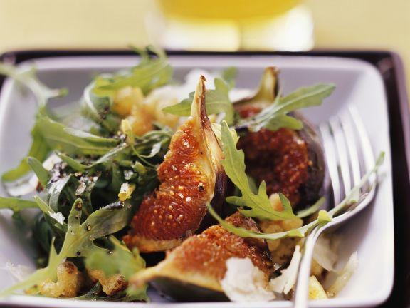 Arugula Salad with Pecorino and Roasted Figs