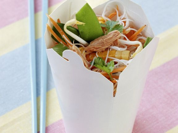 Asian Noodle Salad with Tuna